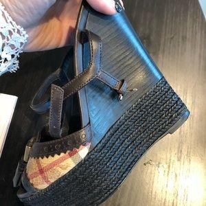 18b223f6c0c Burberry Shoes - Burberry platform shoes 99% new